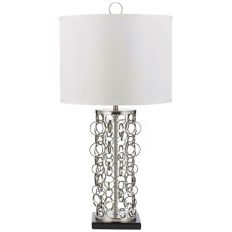 Candice Olson Carnegie Satin Nickel Table Lamp