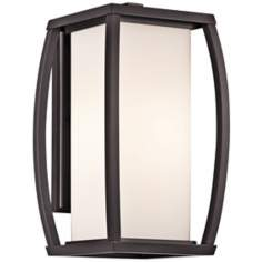 "Kichler Bowen 15 3/4"" High Bronze Outdoor Wall Light"