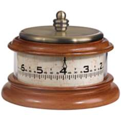 "Tolland 7 1/2"" Wide Walnut Finish Bulova Tabletop Clock"