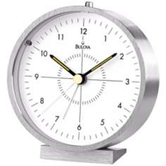 "Blair Tabletop 4"" High Aluminum Bulova Alarm Clock"