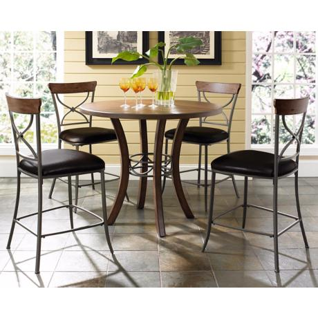 Hillsdale Cameron X-Back Round Counter Height Dining Set