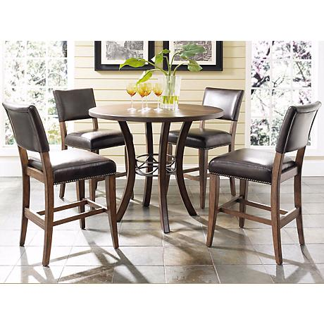 Hillsdale Cameron Parsons Round Counter Height Dining Set