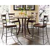 Hillsdale Cameron Ladder Round Counter Height Dining Set