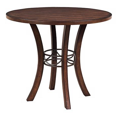 Hillsdale Cameron Round Wood Counter Height Dining Table