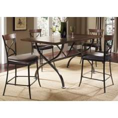 Hillsdale Cameron 5-Piece X-Back Counter Height Dining Set