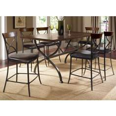 Hillsdale Cameron X-Back 7-Piece Counter Height Dining Set