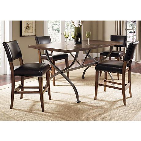 Hillsdale Cameron 5-Piece Parsons Counter Height Dining Set