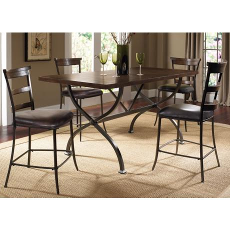 Hillsdale Cameron 5-Piece Ladder Counter Height Dining Set