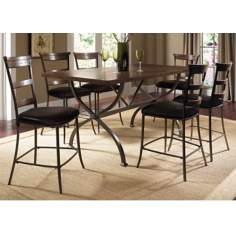 Hillsdale Cameron Ladder 7-Piece Counter Height Dining Set