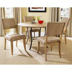 Hillsdale Charleston Round Metal Parsons 5-Piece Dining Set