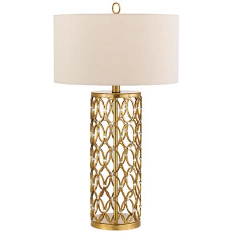 Candice Olson Cosmo Satin Brass Table Lamp