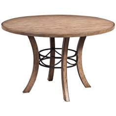 Hillsdale Charleston Desert Tan Round Wood Dining Table