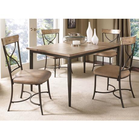 Hillsdale Charleston Rectangle X-Back 5-Piece Dining Set