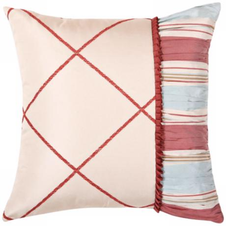 "Cornelia Checkered 14"" Square Decorative Pillow"