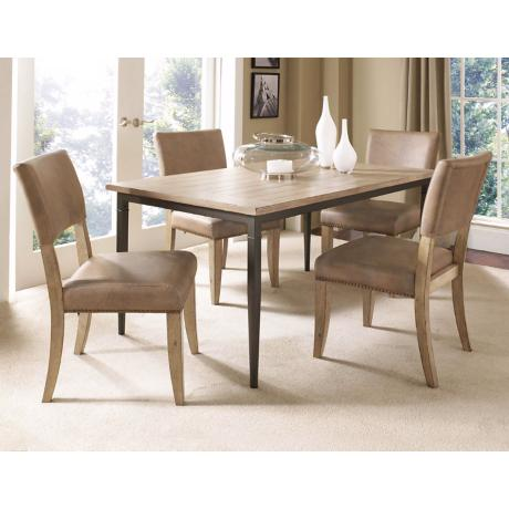 Hillsdale Charleston Rectangle Parsons 5-Piece Dining Set