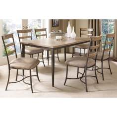 Hillsdale Charleston Rectangle and Ladder 7-Piece Dining Set
