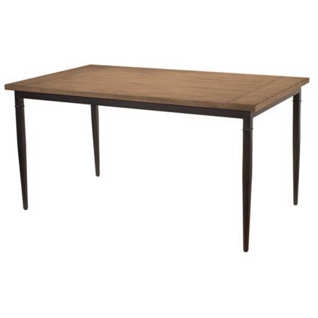 Hillsdale Charleston Rectangle Wood and Metal Dining Table
