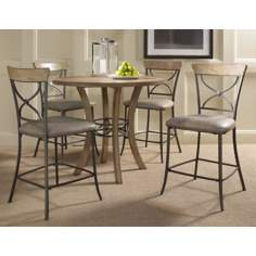 Hillsdale Charleston Round X-Back Counter Dining Set of 5