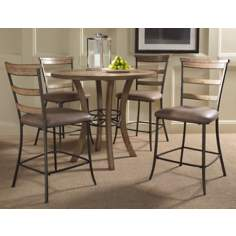 Hillsdale Charleston Round and Ladder Counter Dining Set/5