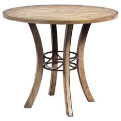 Hillsdale Charleston Round Wood Counter Height Dining Table