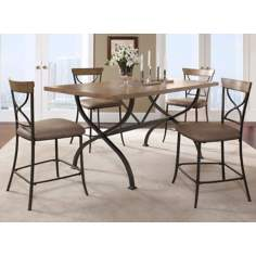 "Hillsdale Charleston ""X"" Counter Height Dining Set of 5"