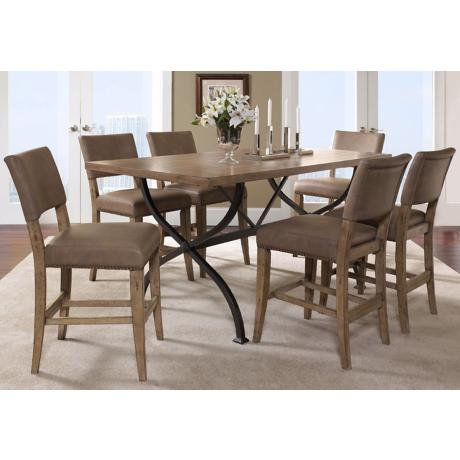 Hillsdale Charleston Rectangle Parsons Counter Dining Set/7