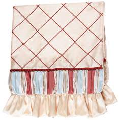 "Cornelia Checkered 52"" Wide Satin Decorative Throw"