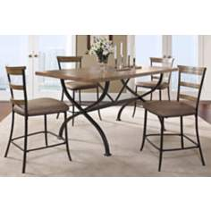 Charleston Rectangle Ladder Back 5-Piece Dining Set