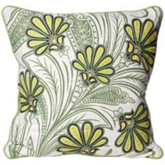"Terra Garden 18"" Square Cotton Accent Pillow"