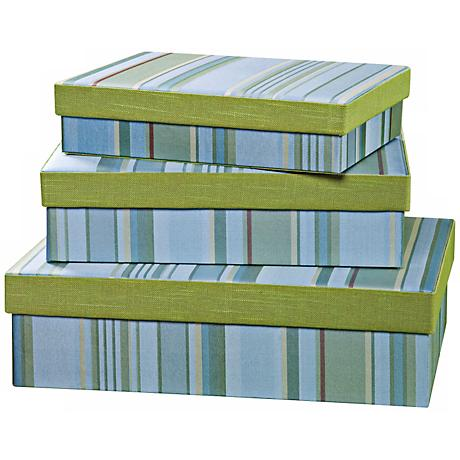 Set of 3 Fresca Rectangle Decorative Boxes