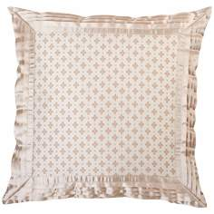 "Lumina Satin Trim 18"" Square Decorative Pillow"