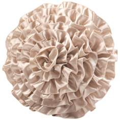 "Lumina Flower 14"" Round Decorative Pillow"