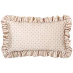 "Lumina Ruffled Edge 18"" Wide Lumbar Decorative Pillow"