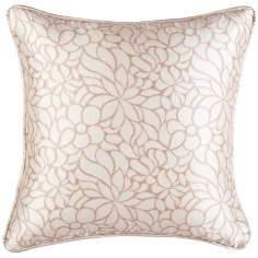"Lumina Welt Edge18"" Square Floral Decorative Pillow"