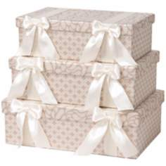 Set of 3 Lumina Rectangle Decorative Boxes