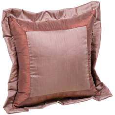 "Milano 18"" Square Two-Tone Decorative Pillow"