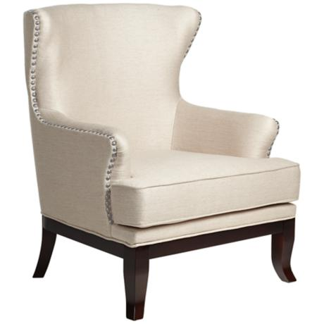 Paige Mandarin Wheat Upholstered Wingback Chair