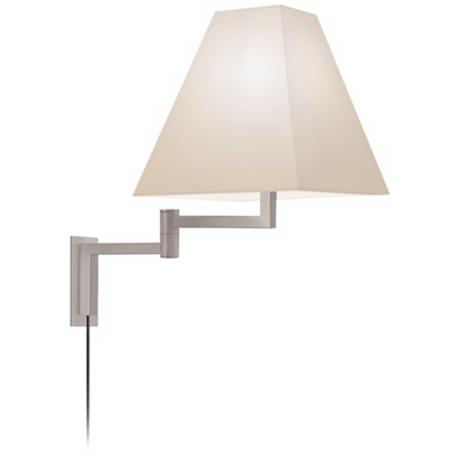 Sonneman Square Satin Nickel Plug-In Swing Arm Wall Lamp