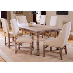 Hillsdale Hartland Light Oak Arm Chair 7-Piece Dining Set