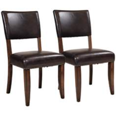 Hillsdale Cameron Set of 2 Wood Parsons Dining Chairs