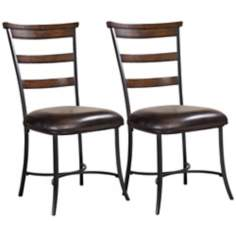 Hillsdale Cameron Set of 2 Ladder Back Metal Dining Chairs