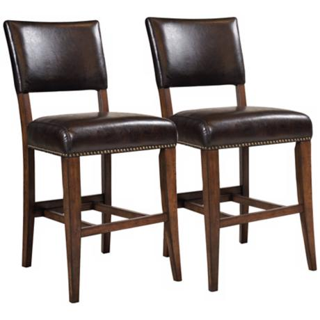 Hillsdale Cameron Set of 2 Parsons Non-Swivel Counter Stools