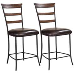 Hillsdale Cameron Set of 2 Ladder Non Swivel Counter Stools