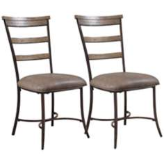 Hillsdale Charleston Set of 2 Ladder Back Dining Chairs