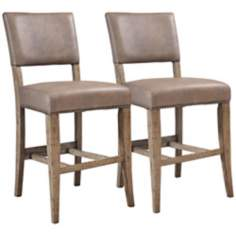 Hillsdale Charleston Set of 2 Parsons Counter Height Stools