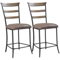 Hillsdale Charleston Set of 2 Ladder Back Counter Stools