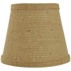 Natural Burlap Lamp Shade 6x12x8 (Spider)