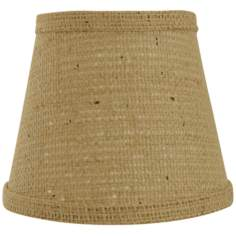 "Natural Burlap Lamp Shade 9x16x12"" (Spider)"