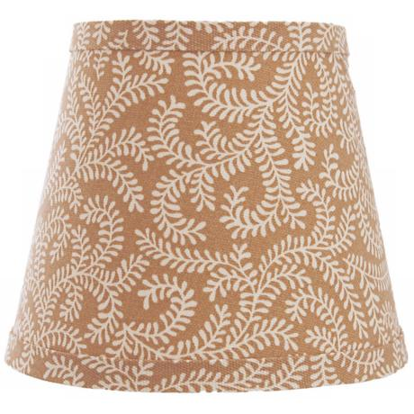Cocoa and Cream Swirl Lamp Shade 6x12x8 (Spider)