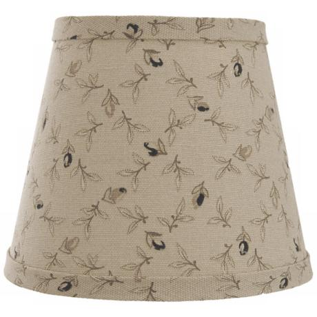 Taupe with Black Rosebuds Lamp Shade 9x16x12 (Spider)